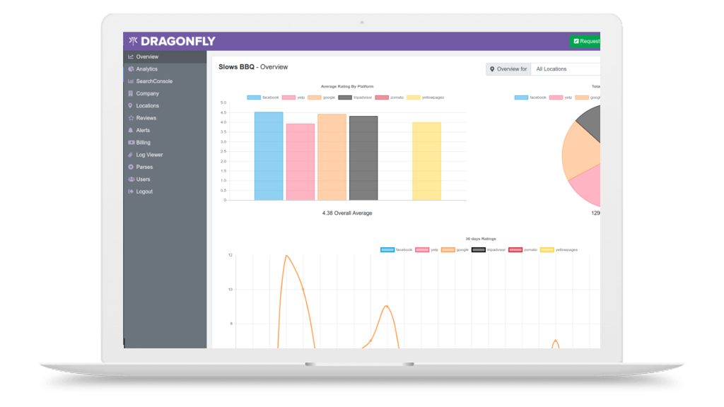 Dragonfly review management system preview